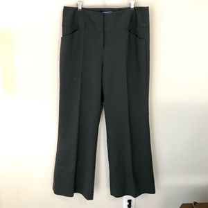 Hunter green dress pants- wide leg